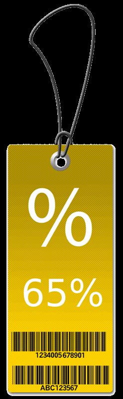 65% Sales Tag