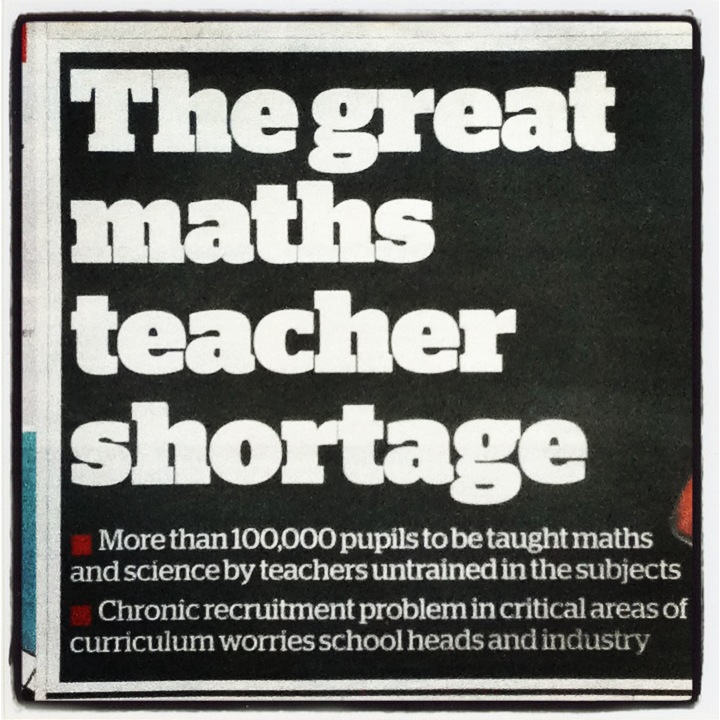 Maths Teacher Shortgae