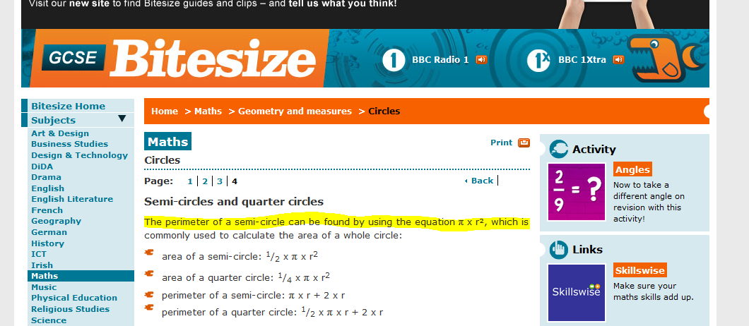 BBC Bitesize Maths Fail