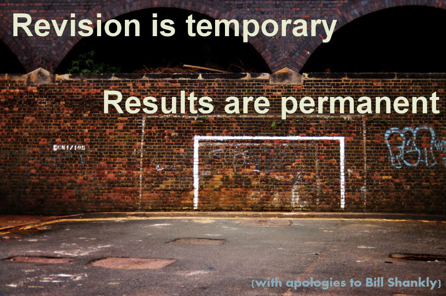 Reviosn is temporary, results are permemant
